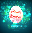 Easter Egg Isolated on yellow background vector image vector image