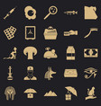 egyptian cats icons set simple style vector image vector image