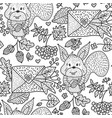 fall hand drawn seamless pattern vector image