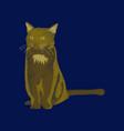 flat shading style icon cat vector image