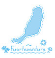 fuerteventura island map isolated cartography vector image