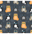 funny cartoon seamless pattern of cats vector image vector image