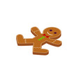 gingerbread man cookie isometric object vector image vector image