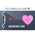 gray you formula of love concept vector image vector image