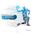 handball dot on white background vector image