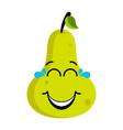 happy pear emoticon vector image vector image