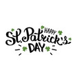 happy st patricks day lettering composition vector image vector image
