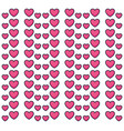 hearts love valentines pattern vector image