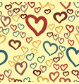 hearts seamless valentines day background vector image vector image
