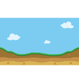 Hill landscape of silhouette for game backgroun vector image