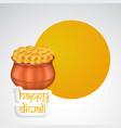 hindu festival diwali background vector image vector image