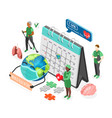 isometric health day composition vector image