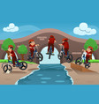 kids doing bike tricks vector image vector image