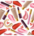 lipstick seamless pattern beautiful red vector image