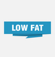 low fat vector image vector image