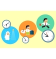 Manager starting his busy workday vector image vector image
