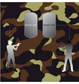 Military background vector image vector image
