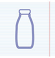 milk bottle sign navy line icon on vector image vector image