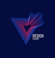 modern abstract element with dynamic waves vector image vector image