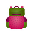 modern practical backpack with extra pockets roomy vector image vector image