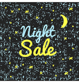 night sale on a black background with texture vector image vector image