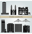 Omaha landmarks and monuments vector image vector image