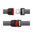 open and close seatbelt set flat style vector image