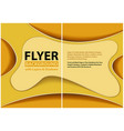 paper cut style design with yellow layers vector image vector image
