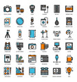 photographer and designer gadget vector image vector image