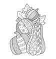 pumpkin doodle coloring book page antistress vector image vector image