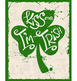 retro st patricks day typography poster vector image vector image