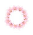 sakura cherry blossom banner wreath vector image vector image