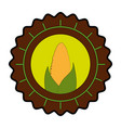 seal stamp with corn icon vector image vector image
