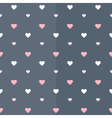 Seamless pattern with white and pink hearts on a