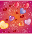 seamless valentines day pattern 2 vector image
