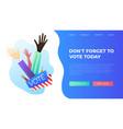 set hand draw hands voting concept vector image
