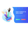 set of hand draw hands voting concept vector image