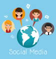 social media community characters vector image