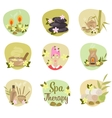Spa flat icons vector image