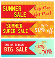 summer sale banners vector image vector image