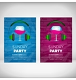 Sunday party leaflet with wine glass vector image vector image