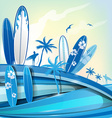 surfboard background on sky background vector image vector image