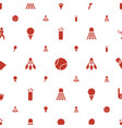 tournament icons pattern seamless white background vector image vector image
