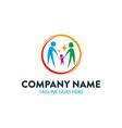 unique childcare logo vector image