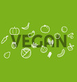 vegetable icon seamless pattern food icons vector image vector image