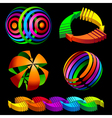 Volumetric colorful rotating arrows vector image vector image