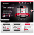 website template design vector image vector image