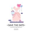 wedding of invitation vector image