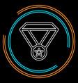 win medal icon - award prize vector image