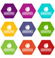 workspace icons set 9 vector image vector image